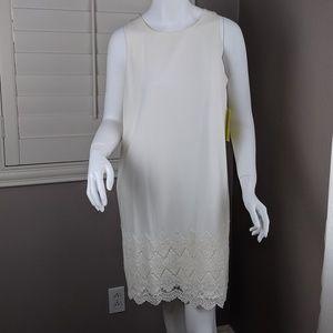 Arloh embroidered hem shift dress